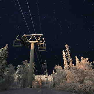 Pyha at Night, Pyhä Ski Resort