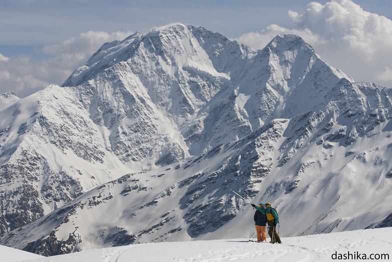 View on Donguz-Orun from Elbrus, Mt Elbrus