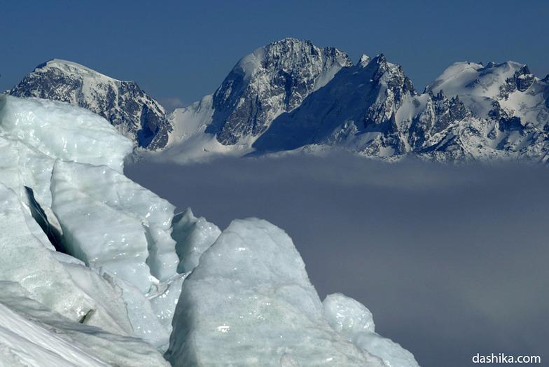 Elbrus glaciers, Mt Elbrus