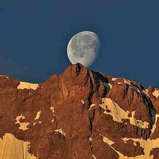 Coucher de lune sur le Ger, Gourette