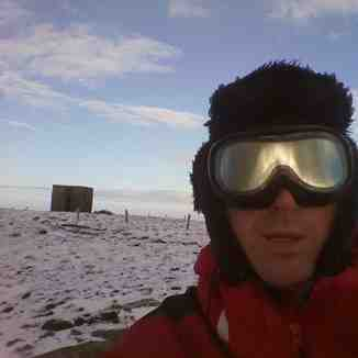 Snow-Forecast.com snow reporter on site enjoying the view from Seefin summit., Seefin (Monavullagh)