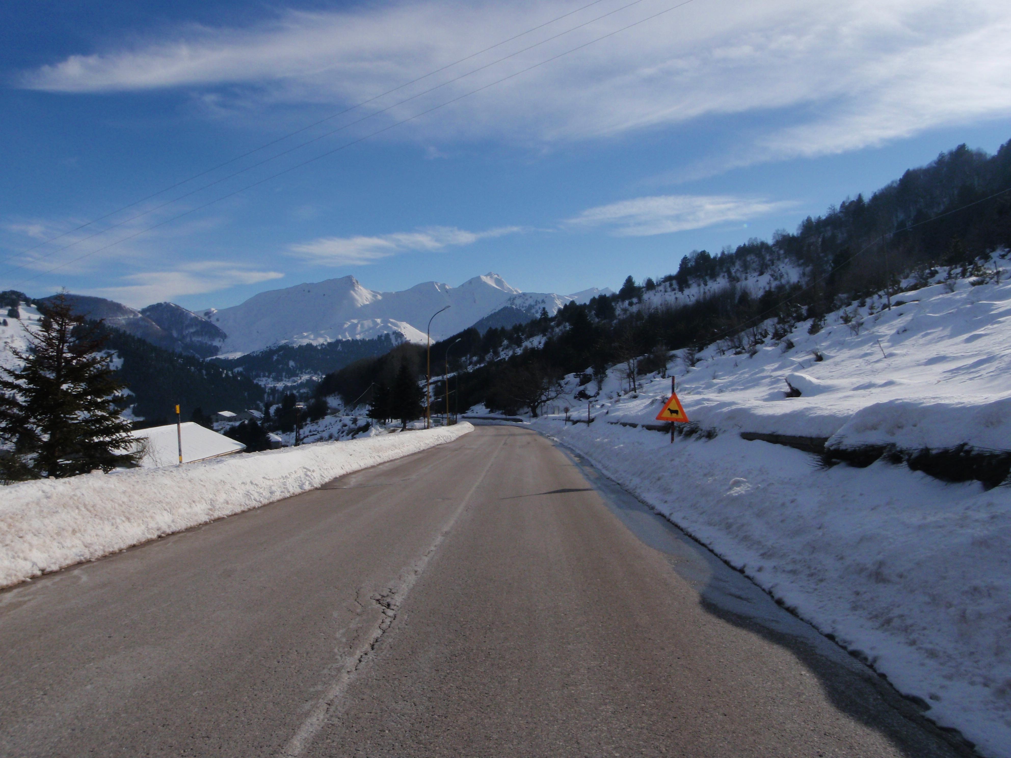 Leaving Metsovo, Metsovo Ski Resort