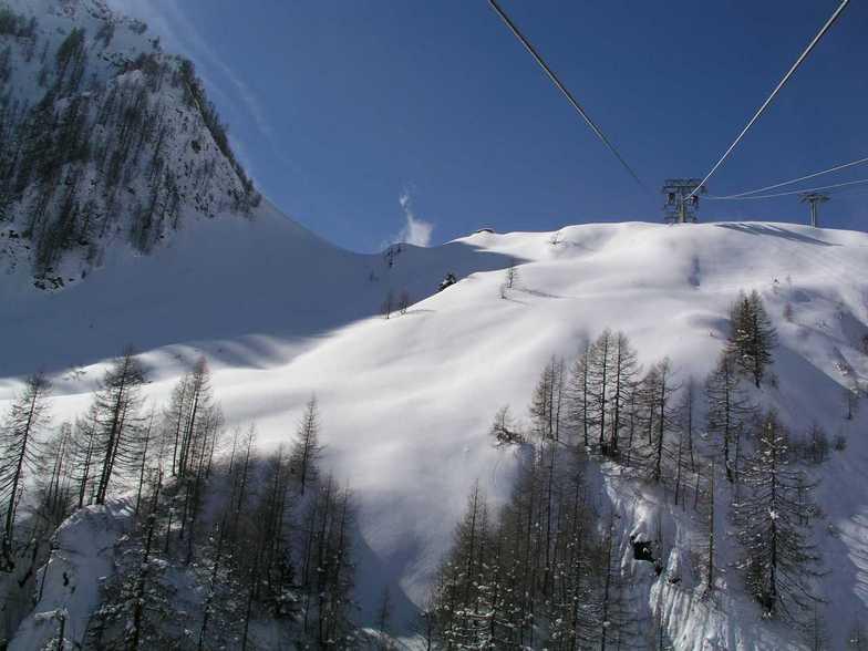 Powder fields on the way up to the Kitzienhorn Glacier, Kaprun