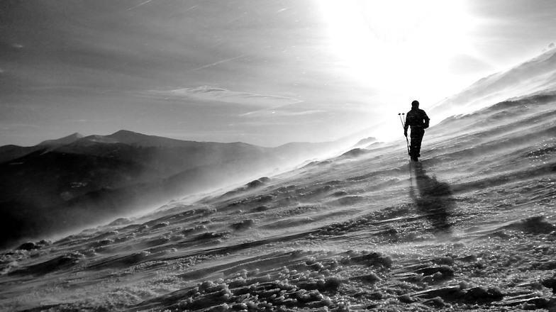 Up to Zhandarm mountain, Drahobrat