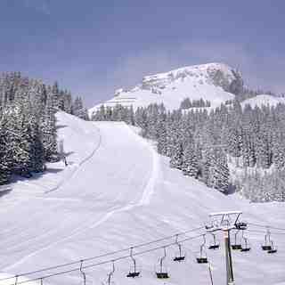 Ifen (Kleinwalsertal) Snow: Ifen from the bottom station