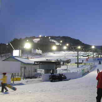 Night skiing at Yongpyong Resort, PyeongChang-Yongpyong