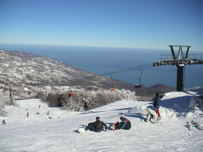 Skiing between two seas. Pelion resot (Greece), Pilion