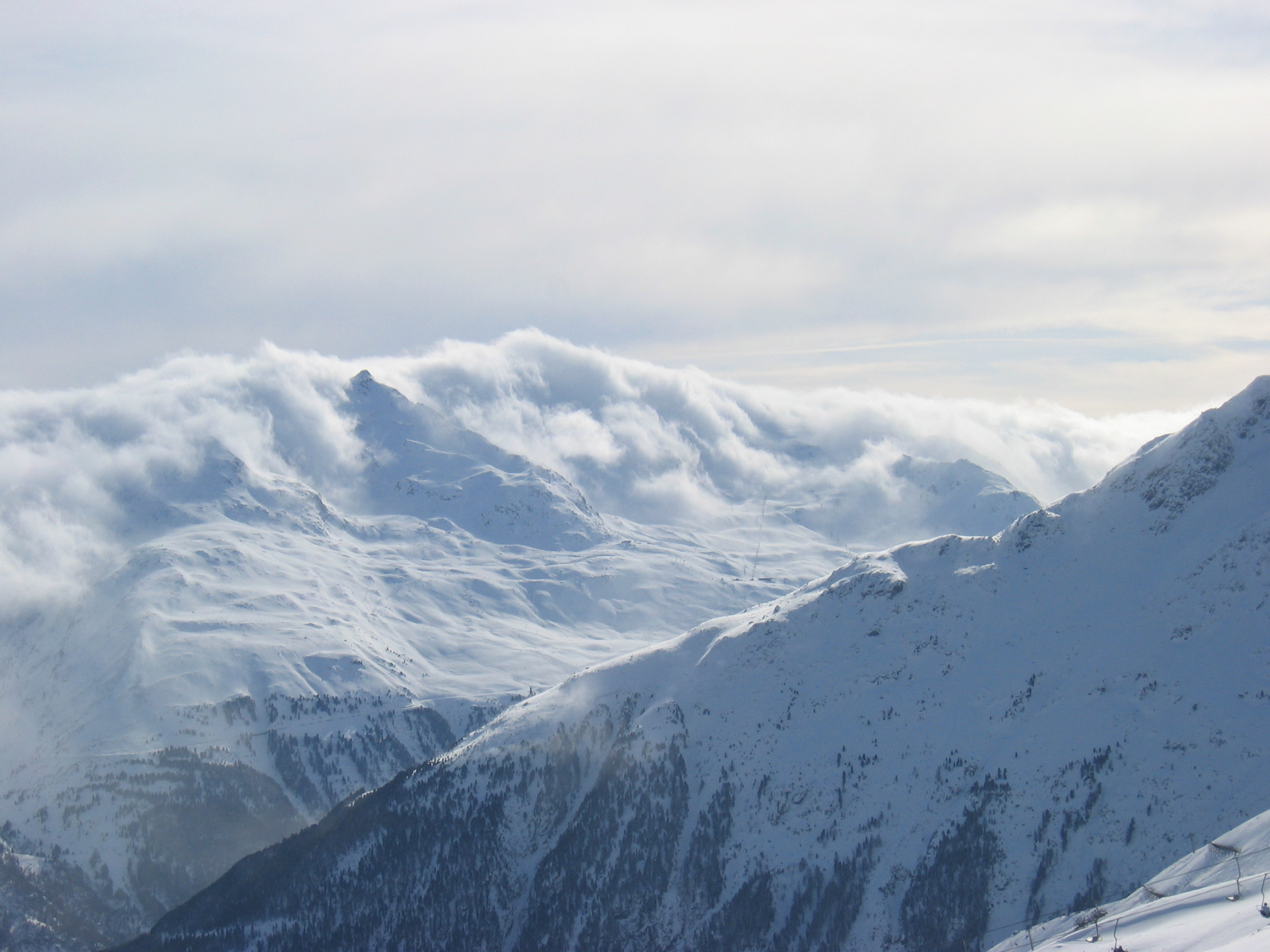 Clouds from the south, Sölden
