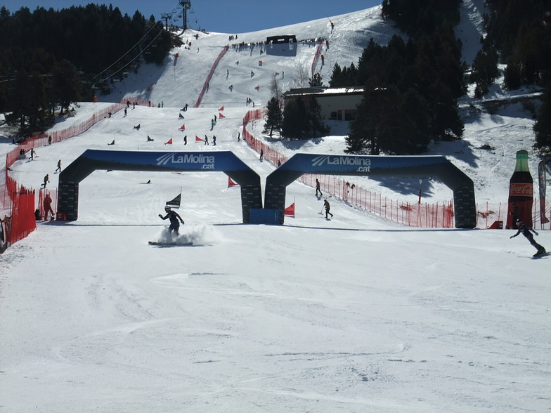 Snowboard race, La Molina