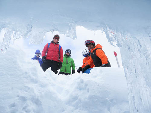 ice cave, Coast Range Heliskiing