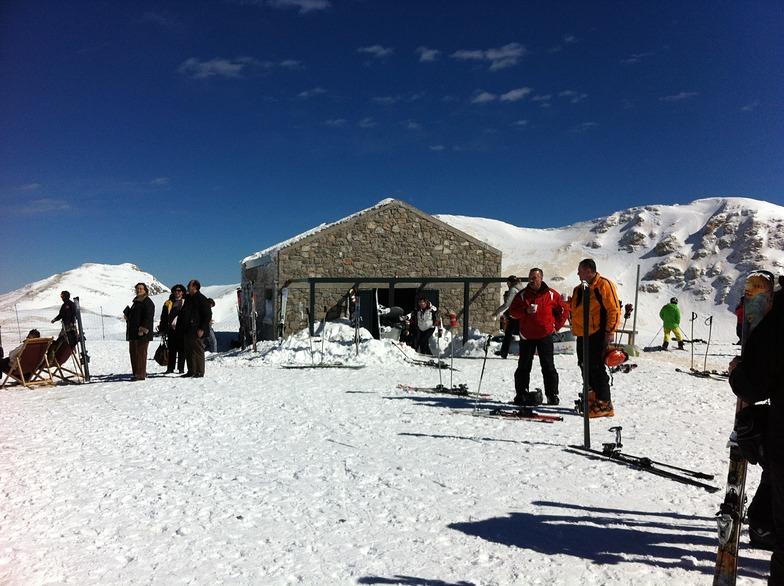 New ski hut on the top of the mountain, Mount Parnassos