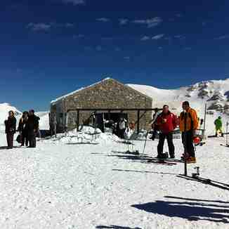 New ski hut on the top of the mountain, Mount Parnassos