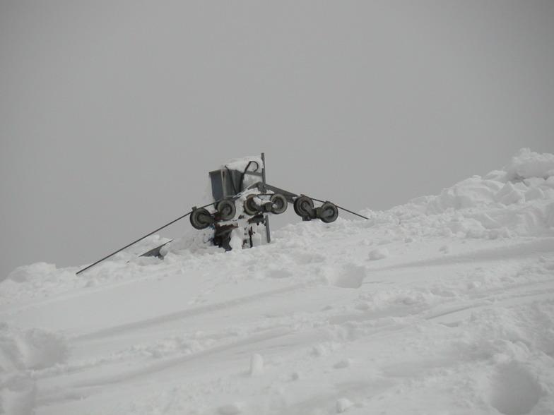 4 m of snow, on Pelion (Greece) at 1.400 m, Pilion
