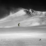 snowkite area Erciyes -kayseri, Turkey