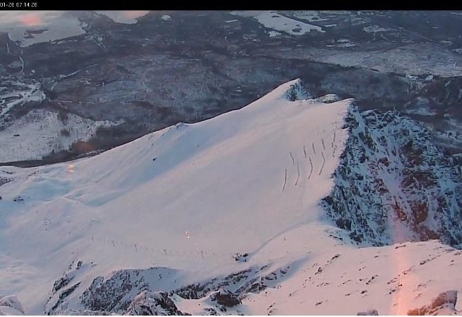 view from Lomnicky peak 2634 m., Tatranská Lomnica