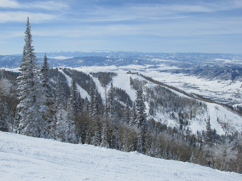 A Royal Flush view of Thunderhead Lodge, Steamboat