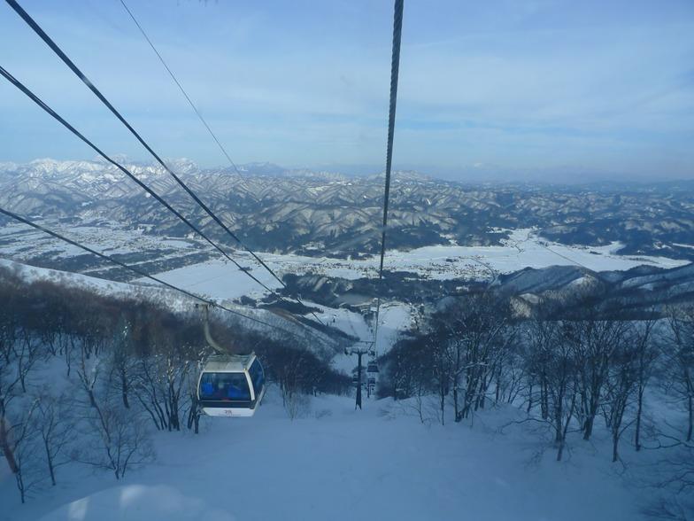 view from the gondola, Hakuba Goryu