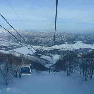 view from the gondola, Hakuba Goryu