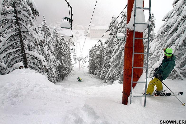Under the classic lift, Brezovica