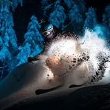 Night skiing, Bulgaria