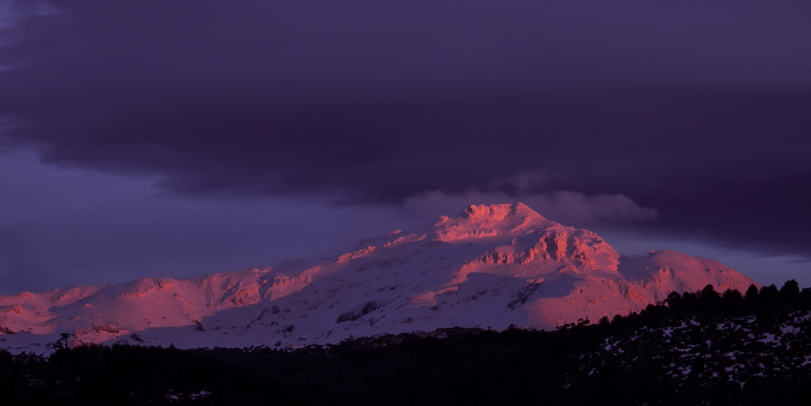Sierra Nevada, desde Suizandina Lodge, Corralco (Lonquimay)