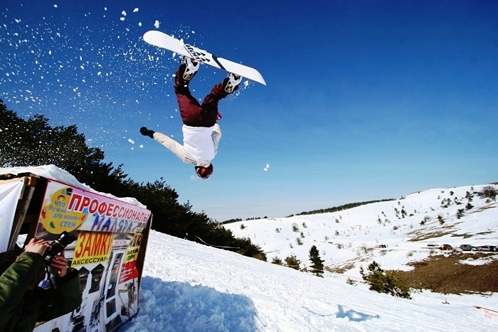 Snowbord day, Ay-Petri