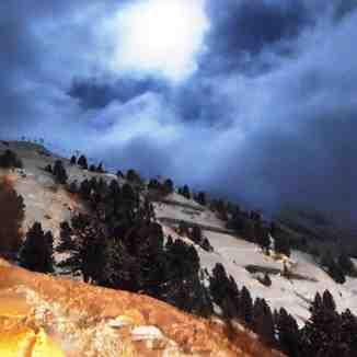 Full moon, Les Arcs