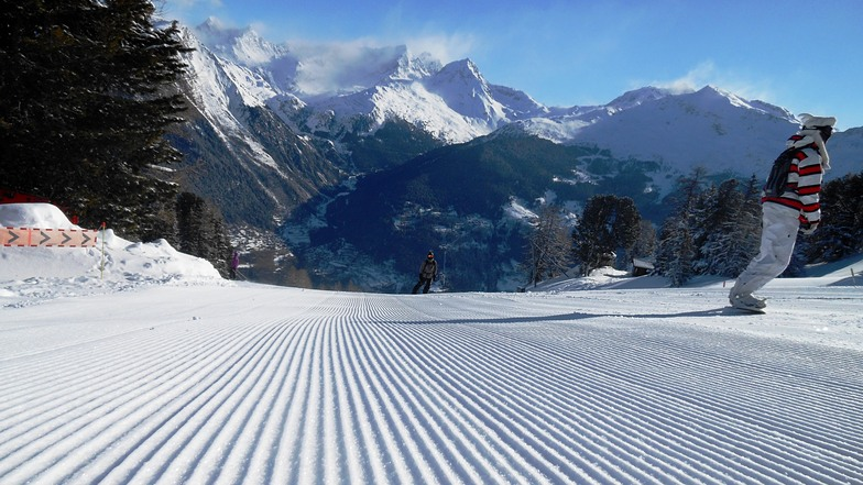 First tracks, Les Arcs