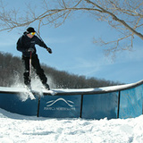 Grinding an S rail, USA - Indiana