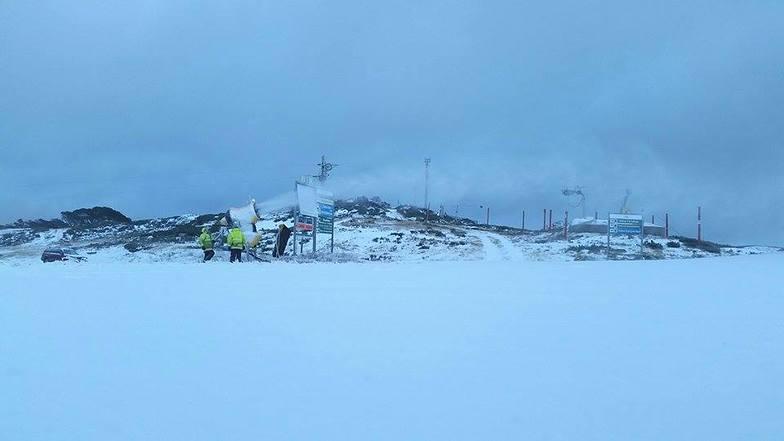 Snowmaking at Falls Creek Ski Resort