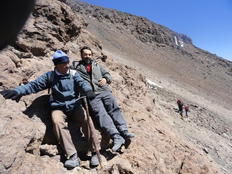 ارتفاع 5100متری آبشاریخی دماوند, Mount Damavand