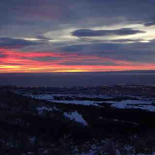 Amanecer en el Estrecho de Magallanes, Cerro Mirador