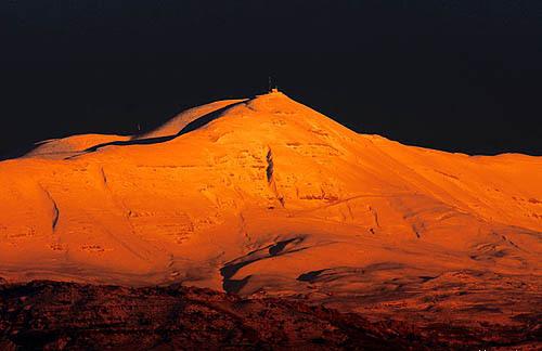 Mount Sannine, Lebanon at night, Mzaar Ski Resort