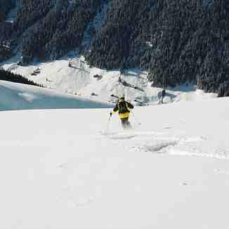 Tony heading for Sertigtal, Davos