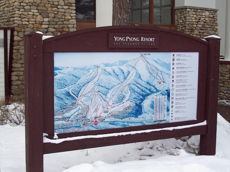 Yongpyong piste map, PyeongChang-Yongpyong