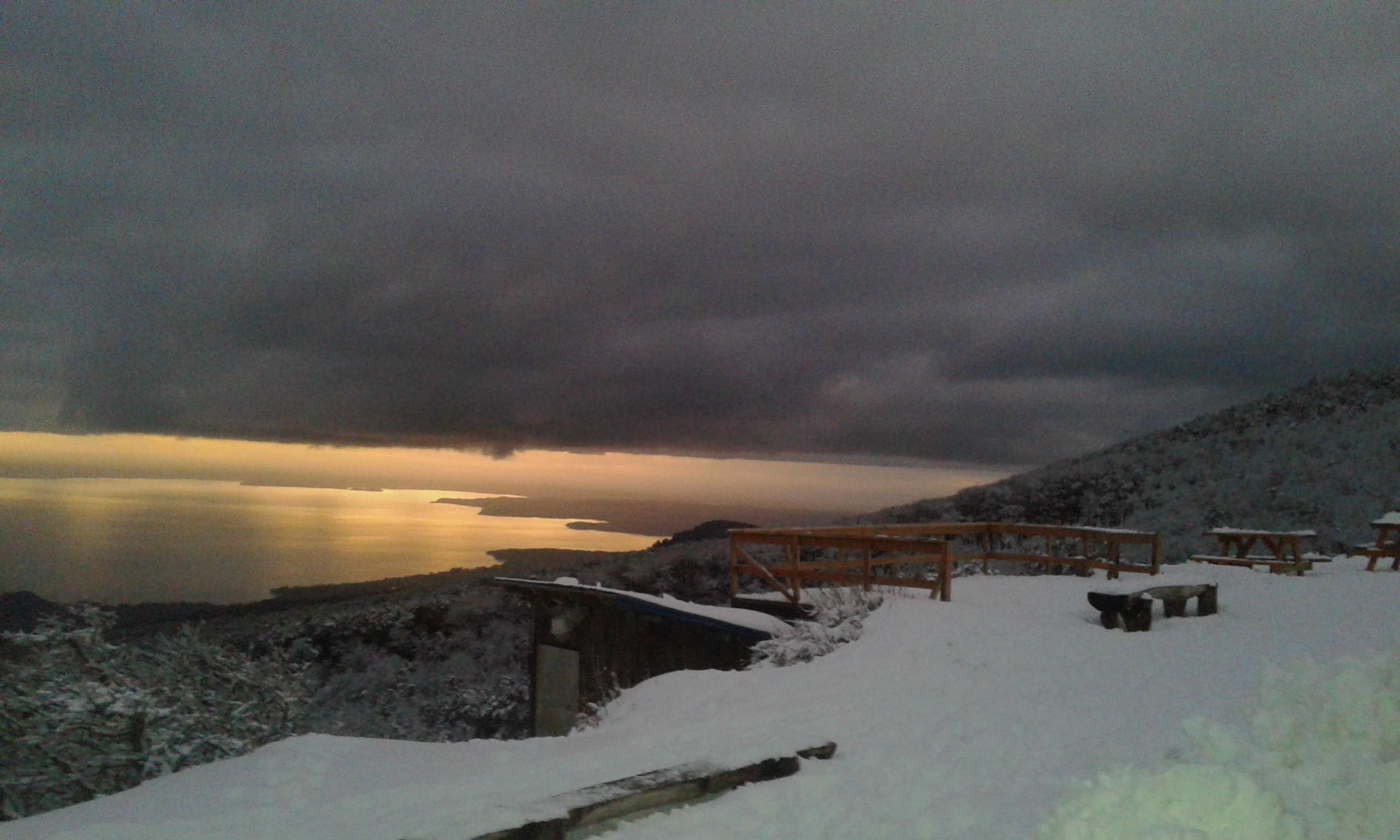 Sunset from Teski - Volcán Osorno