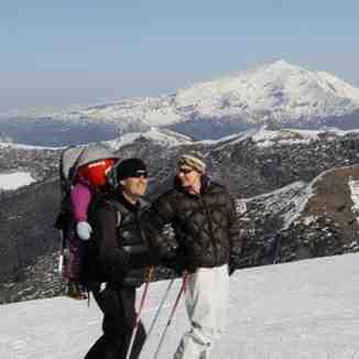 Esquiando en familia, Corralco (Lonquimay)