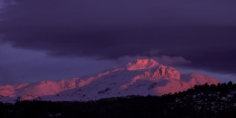 Atardecer en la Sierra Nevada, Corralco (Lonquimay)