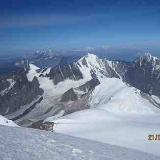 Elbrus from Kazbek summit, Mount Elbrus