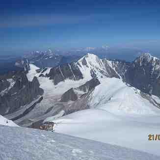 Elbrus from Kazbek summit, Mount Elbrus