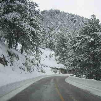 Road to ski center of Falakro 15 march 2015, Falakro Ski Resort