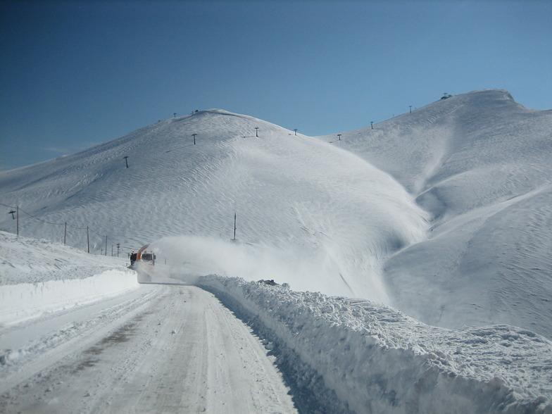 Road to ski center of Falakro 21 march 2015, Falakro Ski Resort