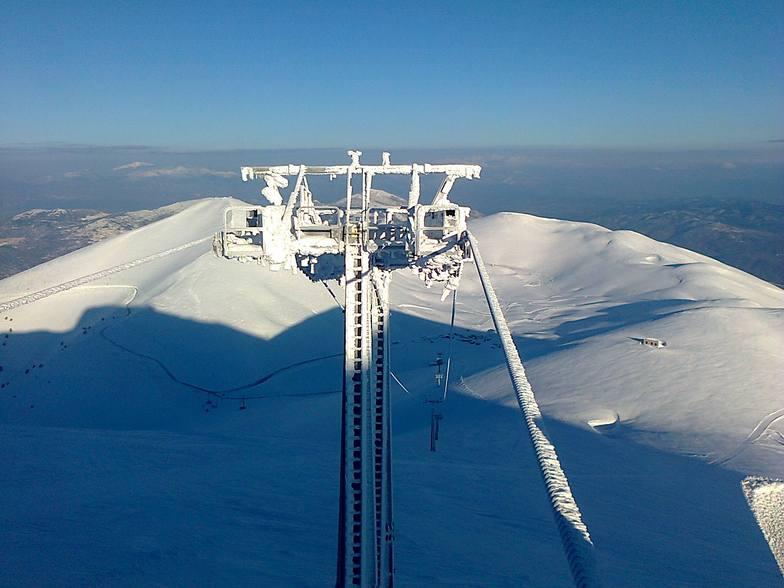 Falakro early morning 15 march 2015, Falakro Ski Resort