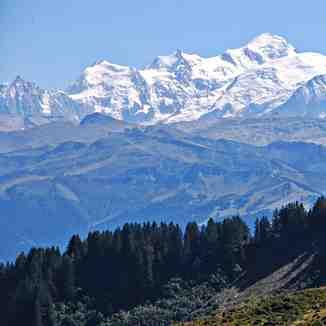 Mont Blanc from Le-Praz-de-Lys, Praz De Lys Sommand