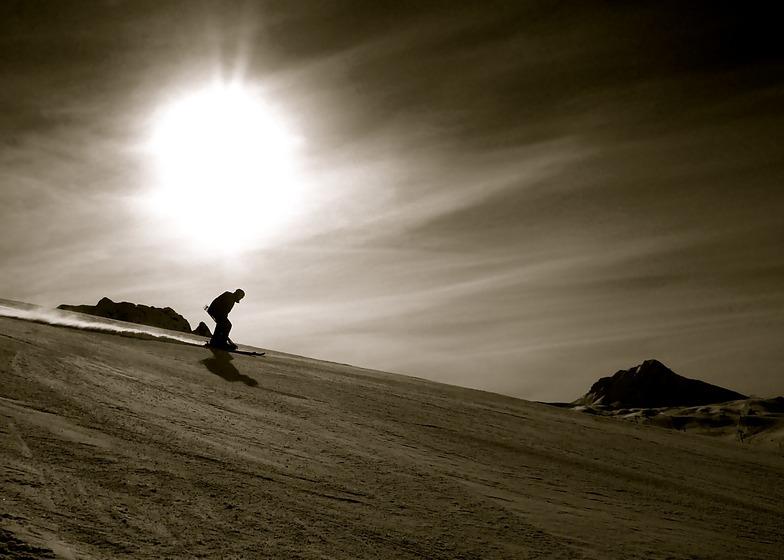 Silhouette Skier, La Plagne