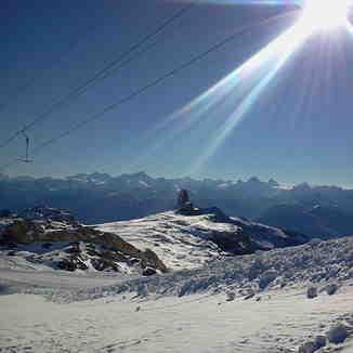 Opening day of ski season 2015-16, Gstaad Glacier 3000