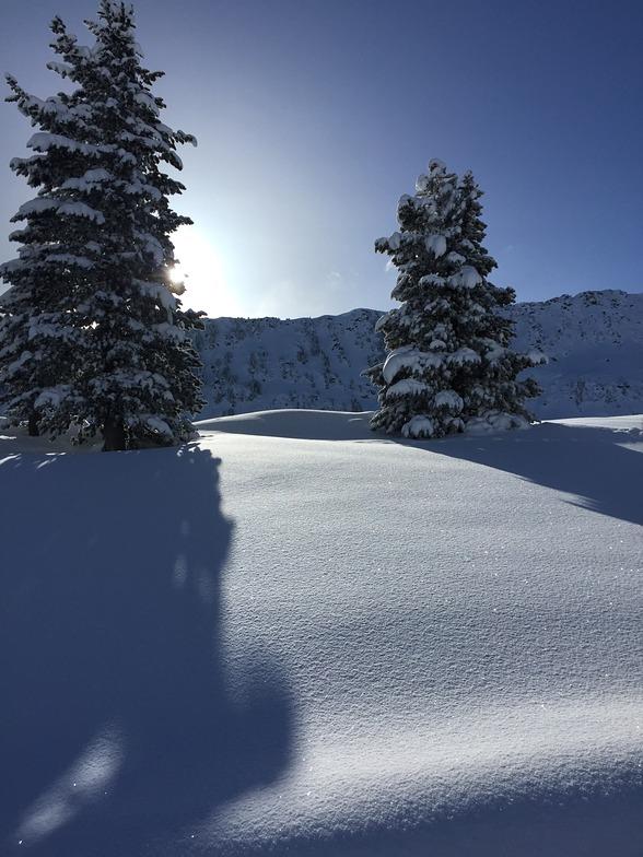 Overnight snowfall, La Thuile