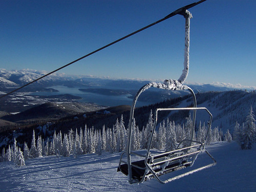 Schweitzer Mountain snow