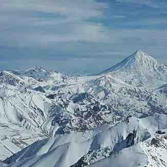 دماوند از فراز قله برج, Tochal