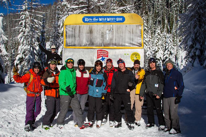 Cat Skiing Group Shot, Selkirk Powder